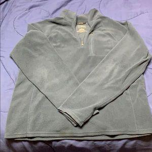 Men's L navy 1/4 zip fleece